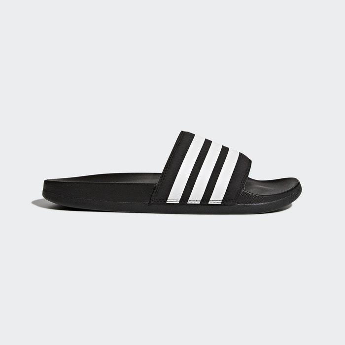 Sandale adilette cloudfoam plus stripes noir Adidas Performance