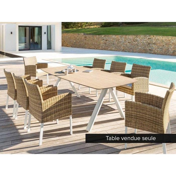 Table de jardin rectangulaire barcelone 8 places couleur - La redoute meubles de jardin ...