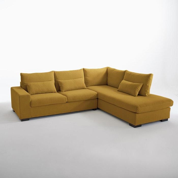 canap d angle odessa bultex coton lin la redoute interieurs la redoute. Black Bedroom Furniture Sets. Home Design Ideas