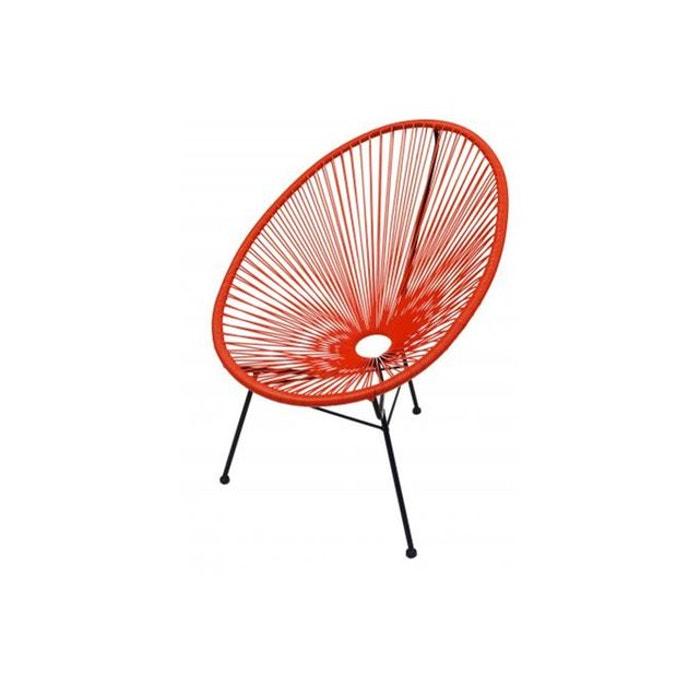 fauteuil la chaise longue orange acapulco rouge la chaise longue la redoute. Black Bedroom Furniture Sets. Home Design Ideas
