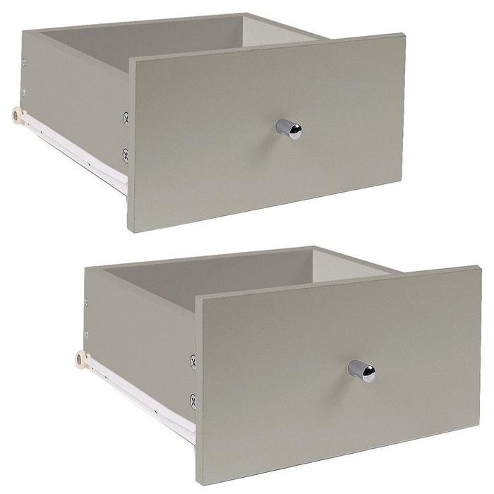 lot de 2 tiroirs pour meuble case rails coulissants casame la redoute. Black Bedroom Furniture Sets. Home Design Ideas