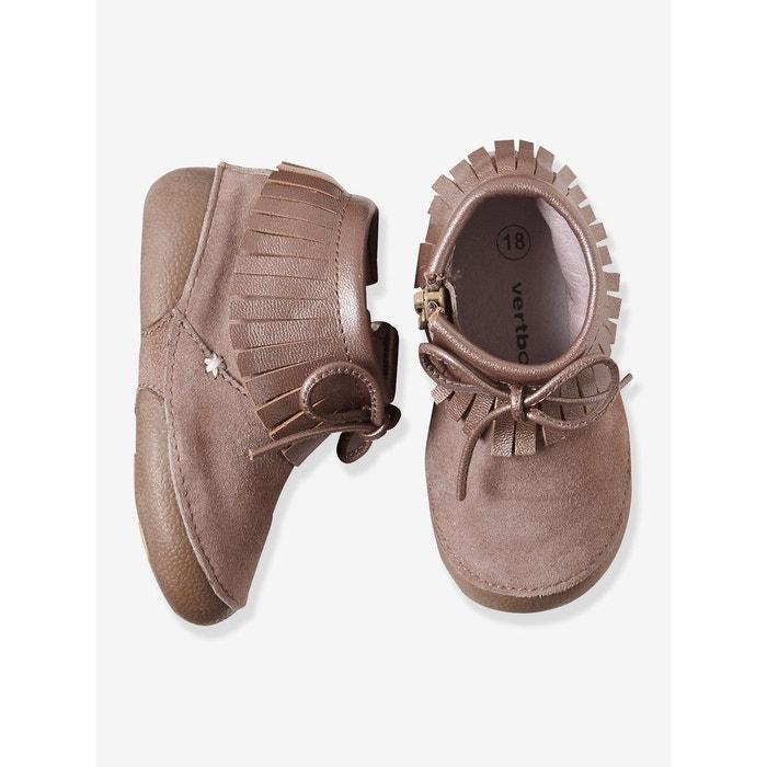 444ab05492ade Chaussures bébé cuir souple beige Vertbaudet