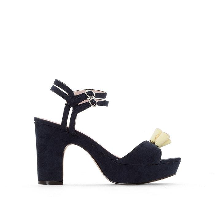 Image High-Heeled Tassel Trim Sandals MADEMOISELLE R