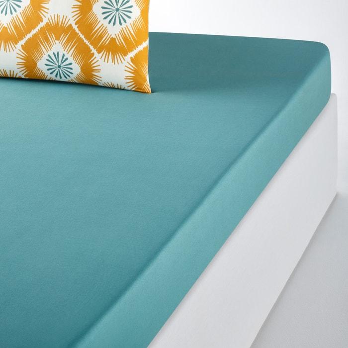 POGOS Plain Cotton Fitted Sheet  La Redoute Interieurs image 0