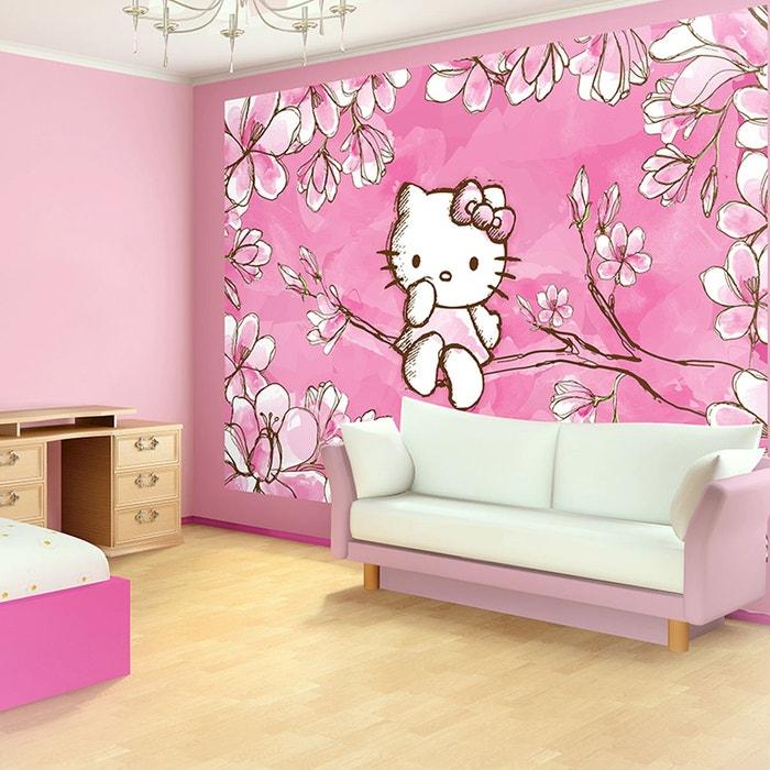 papier peint japon hello kitty 368 x 254 cm rose hello kitty la redoute. Black Bedroom Furniture Sets. Home Design Ideas