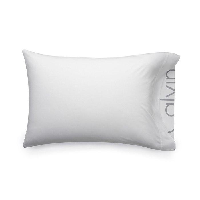 calvin klein home taie d 39 oreiller modern cotton body blanc calvin klein home la redoute. Black Bedroom Furniture Sets. Home Design Ideas