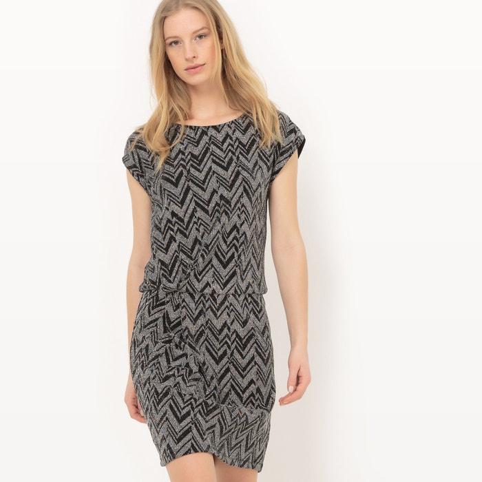 Prosta sukienka z krótkim rękawem, gładka, długość midi  La Redoute Collections image 0