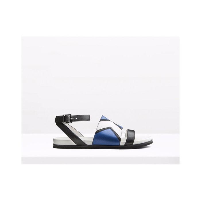Sandales plates en cuir Images Footlocker À Vendre M8tcL