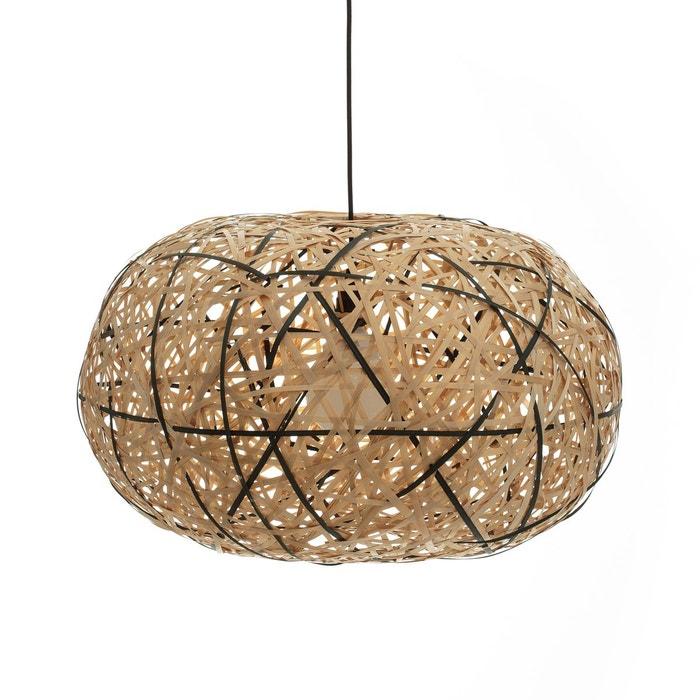 Suspension bambou naturel noir 70 cm faciende naturel for Solde suspension