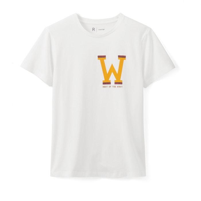 con Collections 100 algod La 243;n redondo Redoute Camiseta cuello estampada qtwpSR