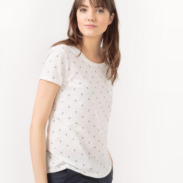 Cotton Anchor Print T-shirt
