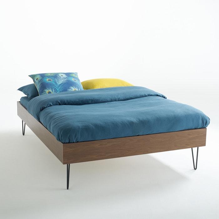 Vintage bed watford notenhout zwart la redoute interieurs la redoute - Decoratie volwassen slaapkamer ...