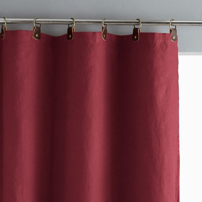 Image Rideau lin lavé doublé, passants cuir, Private AM.PM.