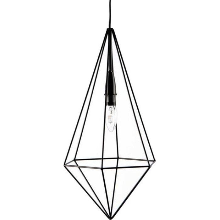 suspension grande hauteur goutte noir korb la redoute. Black Bedroom Furniture Sets. Home Design Ideas