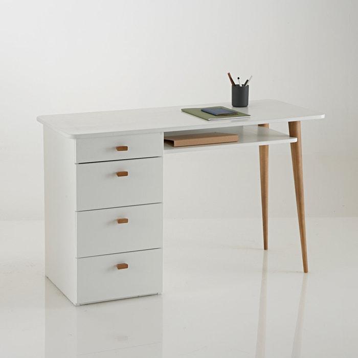 Jimi 4 drawer pine desk la redoute interieurs la redoute - La redoute console bureau ...