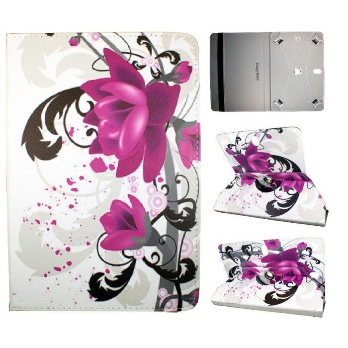 etui tablette universel 10 pouces rotatif 360 motif fleur de lotus crazy kase multicolore. Black Bedroom Furniture Sets. Home Design Ideas