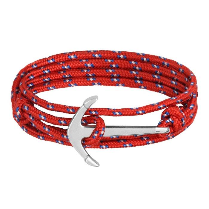 Bracelet ancre ajustable rouge Clio Blue | La Redoute Acheter Pas Cher D'origine Véritable Ligne Livraison Gratuite 2018 Unisexe Rabais De Nombreux Types De mzNlnb