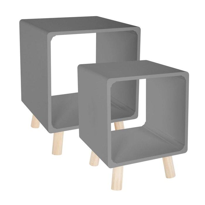 Table De Chevet Moderne.2 Tables De Chevet Moderne L 35 X L 35 Cm