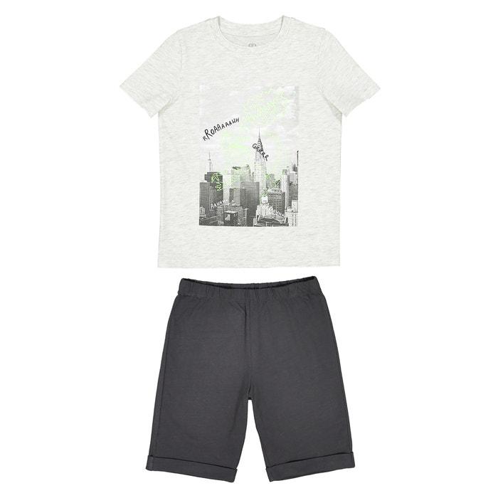 Cotton Dinosaur Pyjamas, 2-12 Years  La Redoute Collections image 0