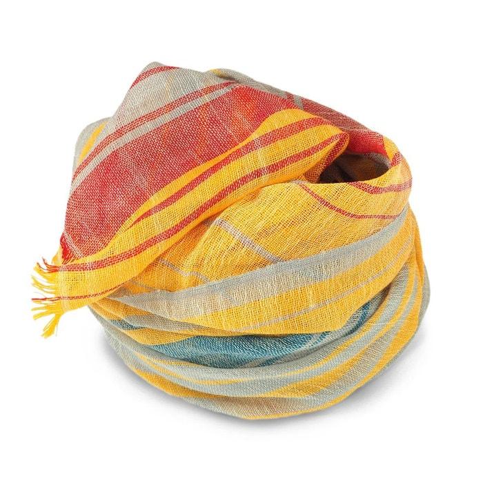 Foulard laine fine rayures bayadere multicolore C Paiement Visa Prix Pas Cher EgErXJZAKa