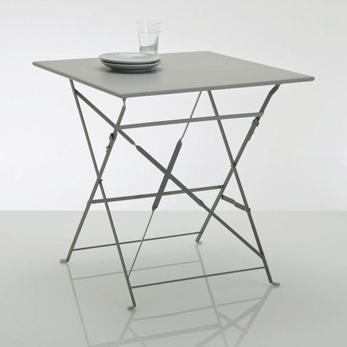 table pliante carr e m tal ozevan la redoute interieurs la redoute. Black Bedroom Furniture Sets. Home Design Ideas