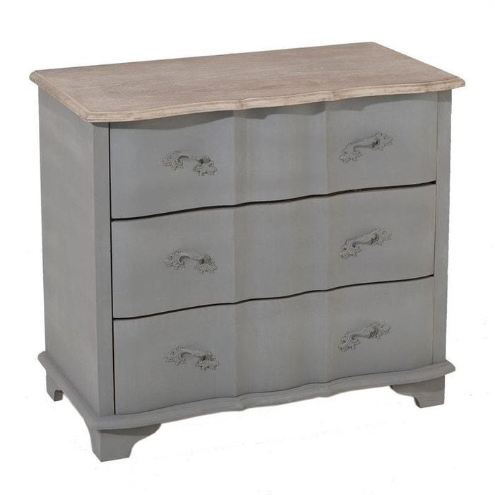 commode grise romantique bois calie gris et plateau c rus pier import la redoute. Black Bedroom Furniture Sets. Home Design Ideas