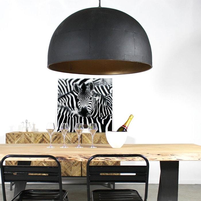 grande suspension industrielle dome 85 cm lam1no 1801 0 noir made in meubles la redoute. Black Bedroom Furniture Sets. Home Design Ideas