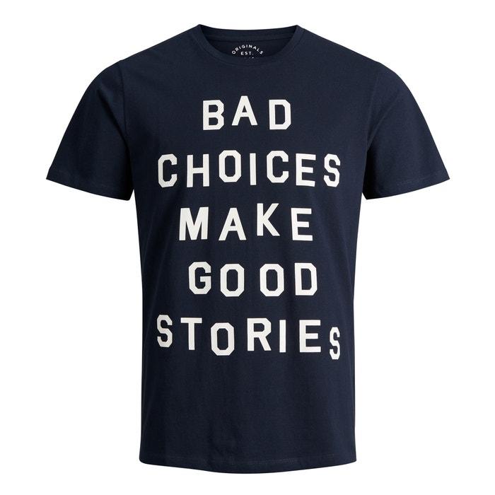 T-shirt scollo rotondo con scritta Jorslug  JACK & JONES image 0