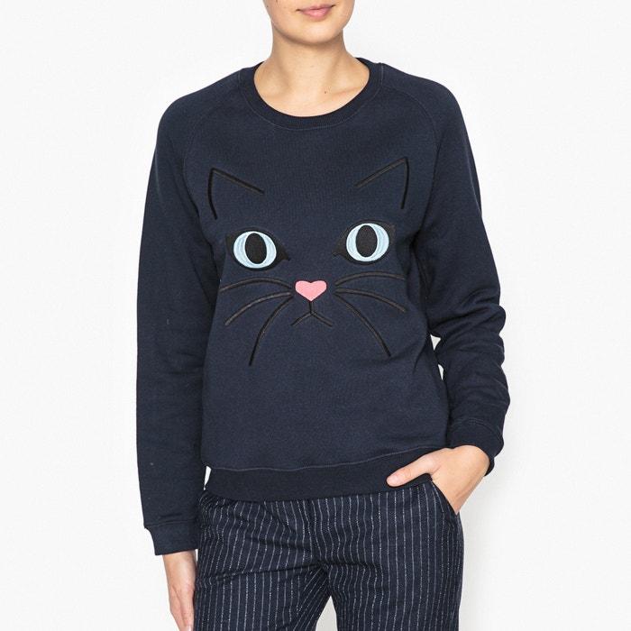 Свитшот с рисунком кошки ZECAT