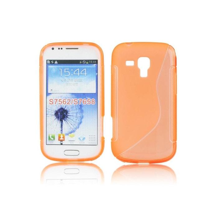 357ac0edb6978a Coque silicone s line bi-matiere orange pour samsung galaxy trend s7560   s  duos s7562 Coquediscount   La Redoute