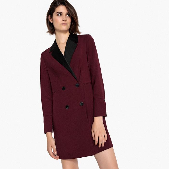 1e093606c1604 Tailored blazer dress burgundy La Redoute Collections   La Redoute
