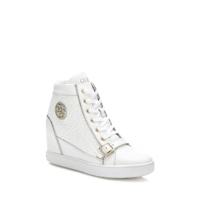 Sneaker fiore cuir Guess De La France Pas Cher En Ligne LTjxQv1