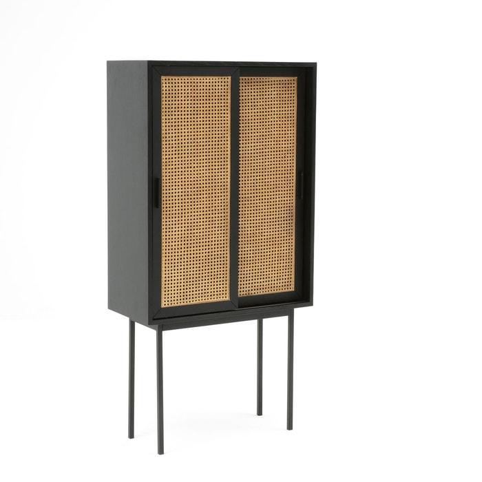 Bahut vintage chêne et portes cannées WASKA  La Redoute Interieurs image 0