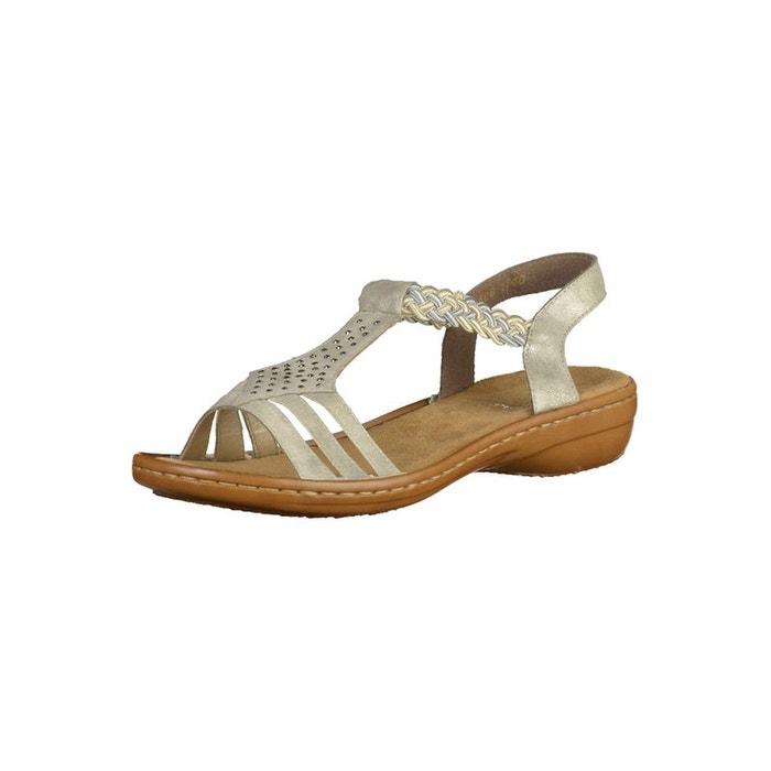 Maintenant 15% De Réduction: Sandales Compensées Rieker Rj75Je