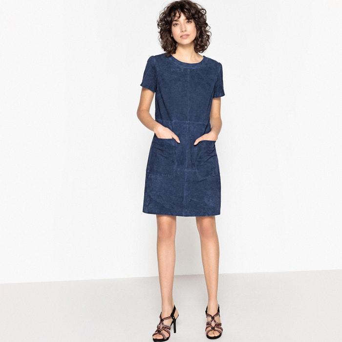 0212285e2481ab Effen leren jurk met zakken blauw La Redoute Collections | La Redoute