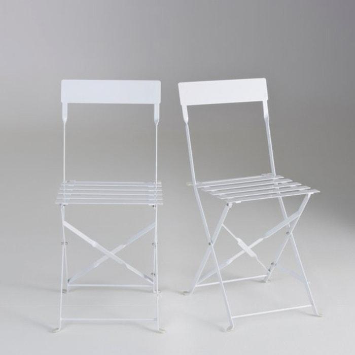 Image Chaise pliante métal, lot de 2 La Redoute Interieurs