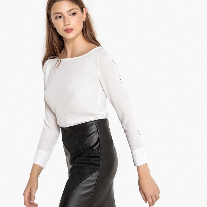 Блузка с круглым вырезом и рукавами на пуговицах  BEST MOUNTAIN image 0