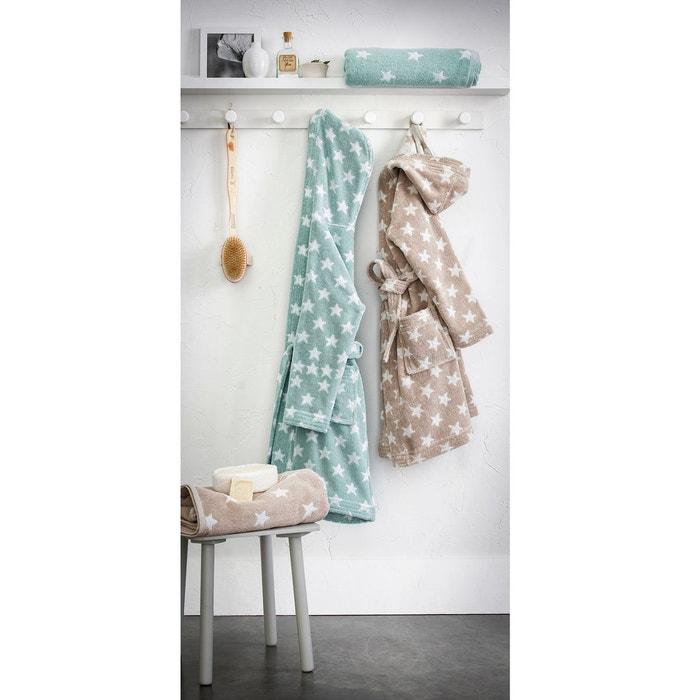 peignoir enfant capuche stars 100 coton la redoute. Black Bedroom Furniture Sets. Home Design Ideas