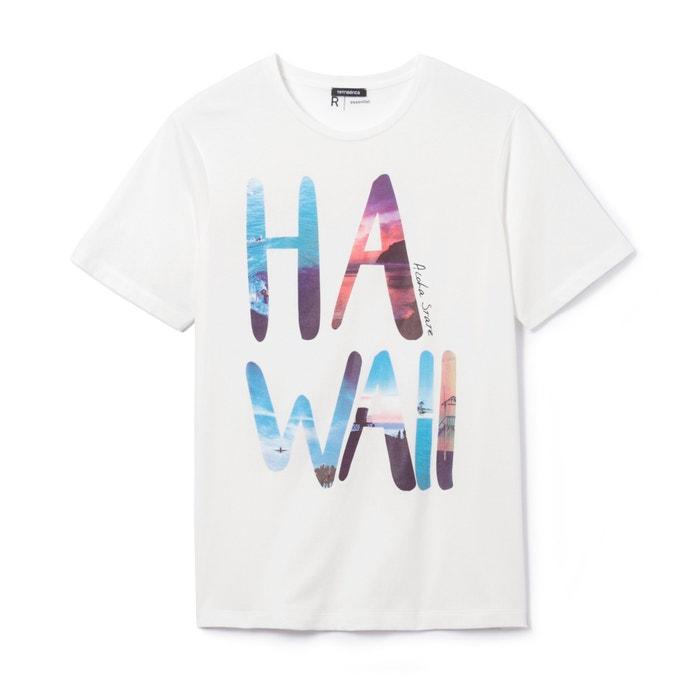 afbeelding Bedrukt T-shirt met ronde hals in zuiver katoen La Redoute Collections