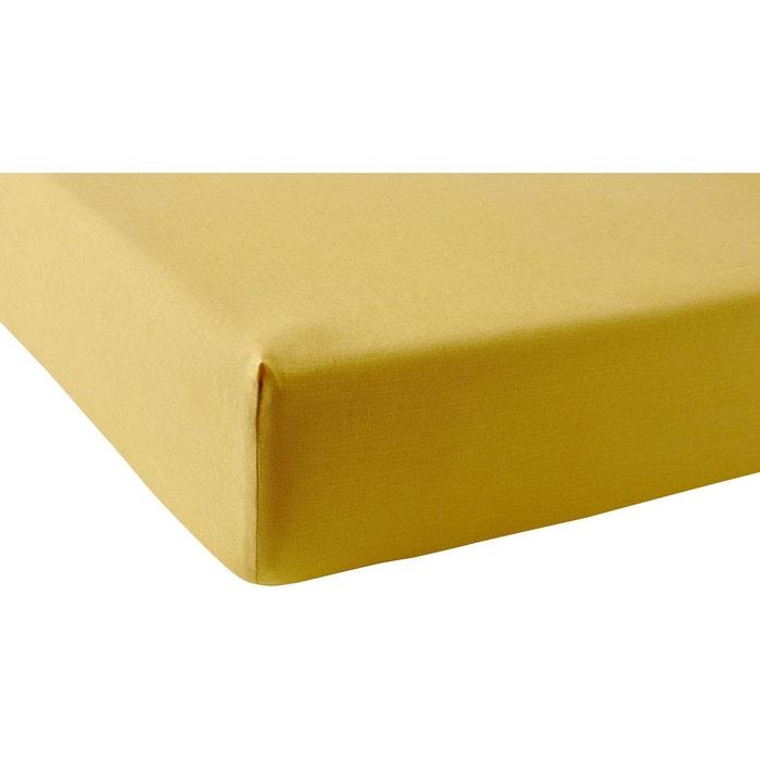 drap housse en lin lav lina miel miel anne de solene la redoute. Black Bedroom Furniture Sets. Home Design Ideas