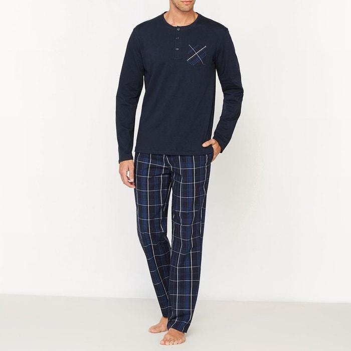 Marinecarreaux Carreaux La Pyjama Pantalon Avec À Longues Manches nxg7PO6