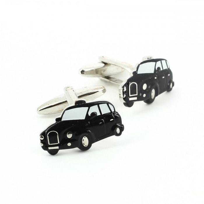 Bouton de manchette, taxi black cab, london noir Cravate Avenue Signature | La Redoute