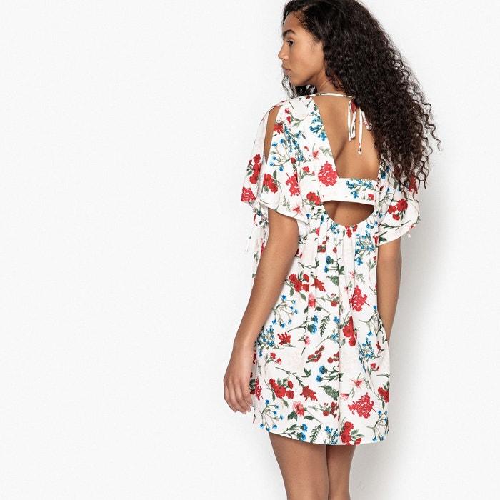 c8c117c041a Robe droite imprimé floral courte