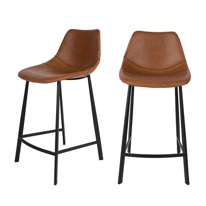 lot de 2 tabourets de bar vintage 65cm franky dutchbone drawer la redoute. Black Bedroom Furniture Sets. Home Design Ideas