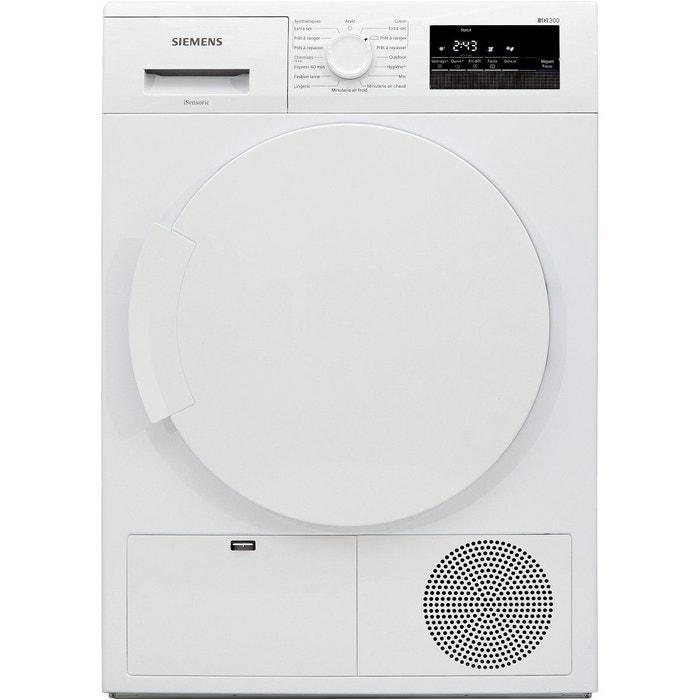 s che linge condensation siemens wt43n201ff blanc siemens la redoute. Black Bedroom Furniture Sets. Home Design Ideas