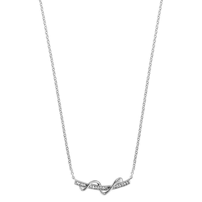 Collier longueur réglable: 40 à 44 cm baguette oxyde de zirconium blanc serpentin argent 925 couleur unique So Chic Bijoux   La Redoute Sast En Ligne 2018 Plus Récent En Ligne 6Sm3aTAHiq