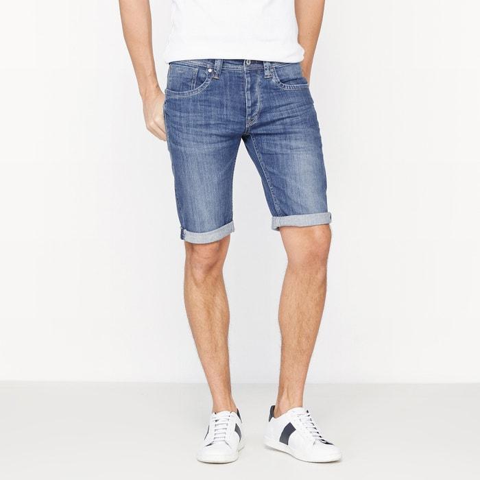 Cane Short Stretch Cotton Denim Bermuda Shorts  PEPE JEANS image 0