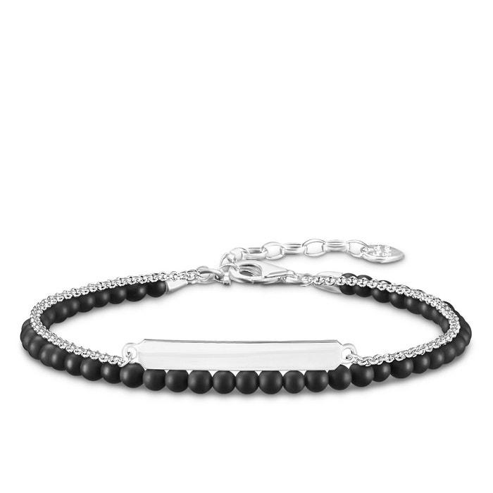 Bracelet noir argenté/noir Thomas Sabo | La Redoute Explorer À Vendre Excellent Prix Pas Cher G39SeEI
