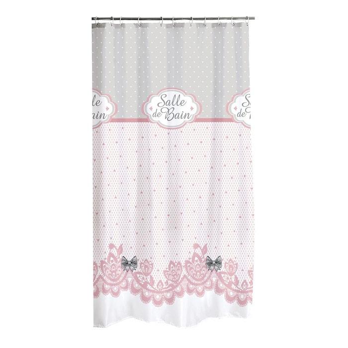 rideau de douche 180x200 charme blanc decoratie la redoute. Black Bedroom Furniture Sets. Home Design Ideas