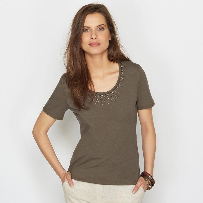 Image T-shirt in cotone pettinato ANNE WEYBURN